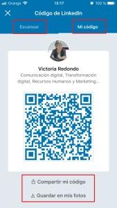 Codigo QR de mi perfil de LinkedIn
