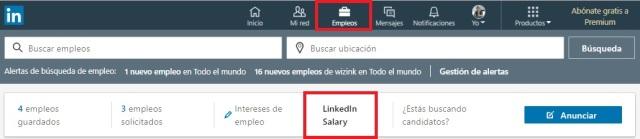 Nueva pestaña en la sección de empleo de LinkedIn, LinkedIn Salary