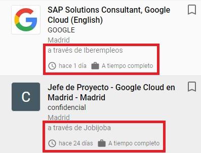 Lo que me gusta de Google empleo