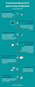 Infografia 7 características de la gente muy empleable